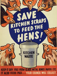 Save kitchen scraps to feed the hens - Catalogue reference: INF13/143 f13