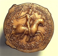 Replica of the great seal of Edward III