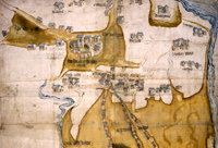 Map of Ogmore Castle and mill, 1579 - Catalogue reference: MPC 1/49
