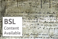 BSL content avaliable - Court Rolls and Other Manorial Documents from Crown Manors, Richmond1-30 Elizabeth I - Catalogue reference: LR/3-101-6m1