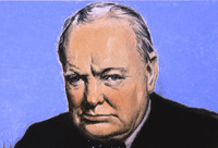 A colour portrait of Winston Churchill - Catalogue reference: INF 3/67