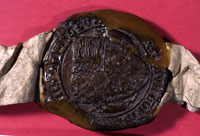 Photograph of an ancient seal - Catalogue reference: E 42/540