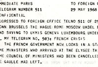 Paris: 29 May 1968: Peak of the Crisis  Catalogue reference: FCO 33/37