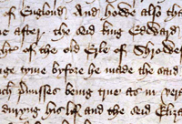 Richard III's official justification for taking the throne, as presented to parliament 1484, Catalogue reference: C65/114