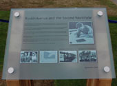 Plaque commemorating the Kew site's wartime role