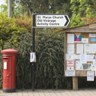 Rural signpost and postbox