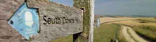 South Downs way signpost