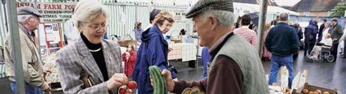 A farmer's market