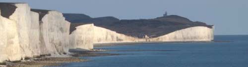 Coast with chalk cliffs