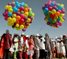 Kite flying for peace in Afghanistan (United Nations photo)
