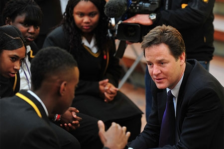Nick Clegg at the launch of the Social Mobility Strategy
