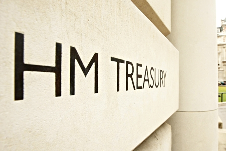HM Treasury sign