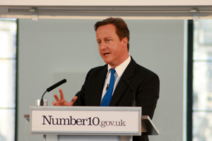 Prime Minister David Cameron speaks about the Big Society in Liverpool; Crown copyright