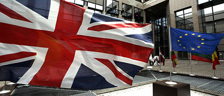 flag of EU and union jack (Getty Images)