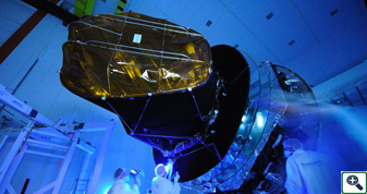 Cleaning Planck. Credit: ESA