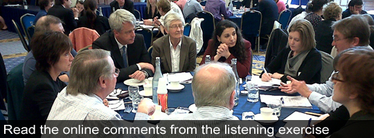 Secretary of State Andrew Lansley at an listening event