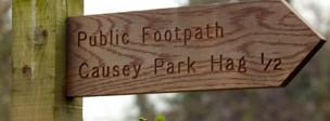 Road sign public footpath