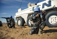 UNAMID soldiers train at Sudan supercamp, credit UN Photo