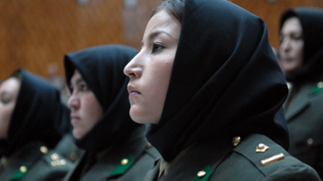 Afghan female army recuits