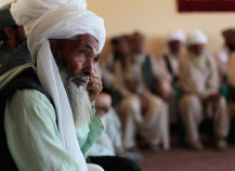 Village elders sit during a shura meeting with local Afghan government officials and officers in Bala Murghab, Afghanistan (gettyimages)