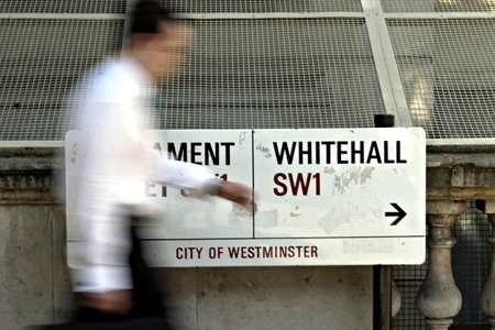Person walking to Whitehall