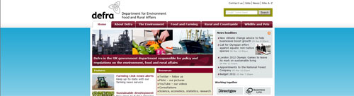 Image of our website home page