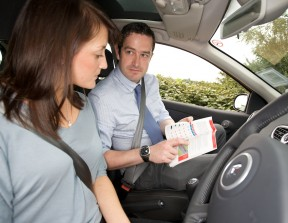 Driving instructor and learner driver