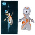Wenlock towel and 20cm soft toy set