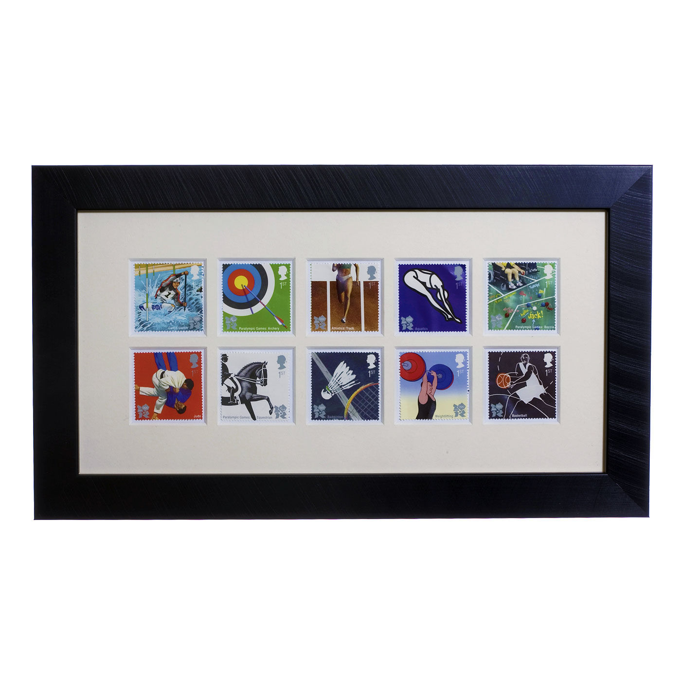 London 2012 set of 10 framed stamps 2009 edition
