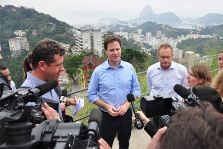Nick Clegg in Brazil