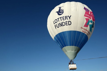 Lottery funded balloon