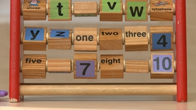 Image of abacus, counting frame.