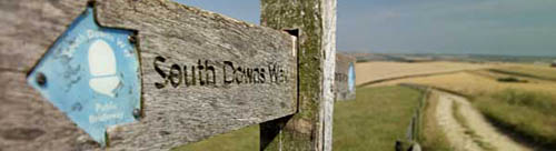 South Downs way signpost