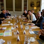 David Cameron and Andrew Lansley at No10 listening to The Foundation Trust Network