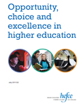 Opportunity, choice and excellence in higher education