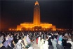 Esplanade of the Hassan II mosque during the Tarawih prayers