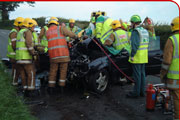 The Fire and Rescue Service attend numerous Road Traffic Collisions on Shropshire's rural roads