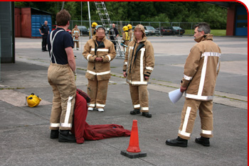One of our women's firefighter taster sessions at Telford Central
