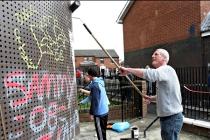painting over grafitti; PA copyright
