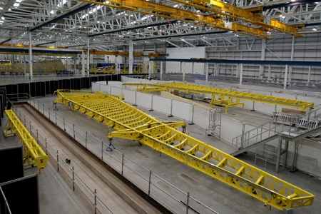An Airbus 365 wing at the Airbus UK Factory in Broughton, Chester. Photo: Dave T