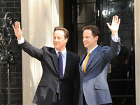 David Cameron and Nick Clegg outside Number 10, Crown copyright
