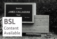 James Callaghan Nature Trail in Newfoundland - Catalogue reference: PREM 16/1531 - BSL content available