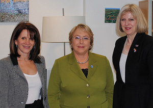 Head of United Nations Women Michelle Bachelet with Home Office ministers
