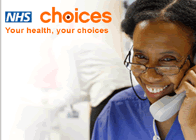 Go to NHS Choices website, opens new window