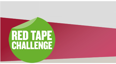 Red tape challenge logo