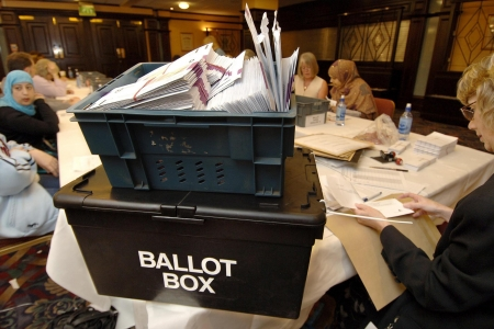 Ballot box. Photo: PA.