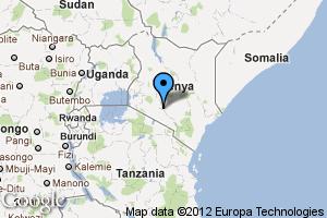 map of Nairobi, Kenya