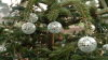 Christmas tree with silver ball balls