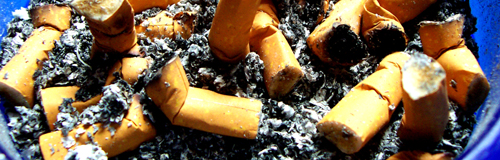 cigarettes stubbed out