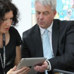 Andrew Lansley demos an app